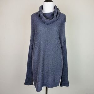 Lucy Gray Oversized Ribbed Knit Cowl Neck Sweater
